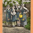 Le Dauphine Pittoresque Postcard, Women & Girl In Traditional French Dress, Picturesque, Pretty