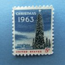 Christmas Tree & White House U.S. Postage Stamp 1963 Vintage
