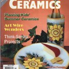 Popular Ceramics Magazine March 2002 Issue, Projects, Arts & Crafts, Pottery