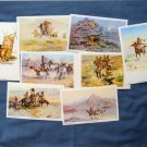 Native American Indian, Postcards, Paintings, of Charles M. Russell, Western Themed