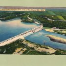 Bagnell Dam, Aerial View, Postcard, Lake of the Ozarks, Missouri, Scenic