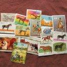 Worldwide Postage Stamps, Assortment, Miniature Art, Horses