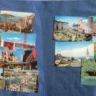 San Francisco Full Color Postcards, Buildings, Cable Cars, Golden Gate Bridge & Park