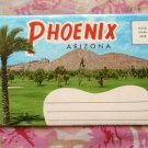 Phoenix, Arizona Vintage Postcard Folder, Fold-Out Pictures, Scenic, Street Views, Desert