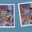 Two Walt Disney, Dumbo & Timothy Mouse, U.S. Postage Stamps