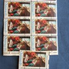 Christmas 6c U.S. Postage Stamps, Used Precanceled, Holiday, Crafting, Decoupage
