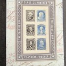Classics Forever U S. Postage Stamps Pane of 6 Presidential MNH