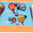 Hot Air Ballooning, U.S.A. Postage Stamps, Intrepid 11, Explorer 11, Block of 4