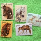 Mares & Foals, Postage Stamps, Horses, Topical, Miniature Art
