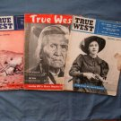 Three Vintage True West Magazines, Nez Perce, Ghost Town, Bodie, Horses, Cowboys, History