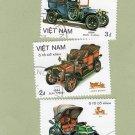 Vintage Trucks Cars Postage Stamps Off Paper Viet Nam Transportation