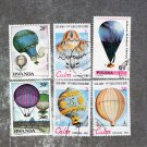 Dirigible / Balloons, Colorful, Postage Stamps, Rwanda, Poland, Caribbean, Aircraft