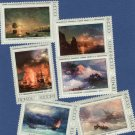 USSR Postage Stamps, Russia, Art, Paintings, Ships, Sea, Ivan Aivazovsky, Marine