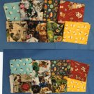 Fat Quarter Assortment Bundle of 8, Cats, Bees, Jungle Animals, Dogs, Birds