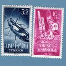Guinea Espanola Correos Postage Stamps Butterfly and Bug Beetle Nature Vtg