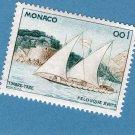Monaco Sailboat, Schooner, Postage Stamp, Felucca, 18th Century