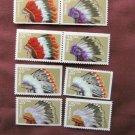 Indian Headdresses U.S. Postage Stamps 25c Native American