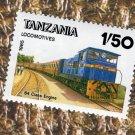 Tanzania Locomotive Train Postage Stamp Railroad Vintage African
