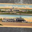 Washington National Airport Terminal Vtg Postcard Aviation Airplanes