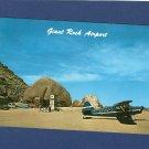 Giant Rock Airport Aviation Postcard Mojave Desert, California