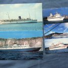 Three Cruise Ships Advertising Postcards Ocean Liners Sun Line