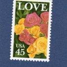 45c Love U.S. Postage Stamp Roses Single Floral Flowers