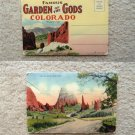 Garden of the Gods Vintage Postcard Folder, Scenic, Cove of the Winds Post Card