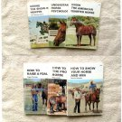 Set of 6 Farnam Library How-To Books PB Equitation Showing Riding