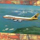 Continental 747 Airplane Advertising Postcard Boeing Jet Airlines