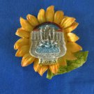 Sunflower Handmade 3D Refrigerator/Kitchen Magnet, Resin, Ceramic, Decorative
