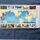 1944: Road To Victory Souvenir Sheet WW 11 Ten Postage Stamps U.S. Scott #2838