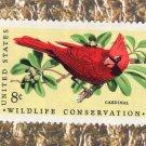 Cardinal On Branch, Wildlife Conservation, U.S. Postage Stamp Single, Bird, Avian