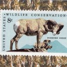 Wildlife Conservation, U.S. Postage Stamp, Bighorn Sheep, Animal, Mammal