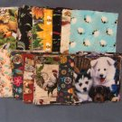 "Pre-Cut Quilting 5"" Fabric Squares, Varied Assortment, 100% Cotton"