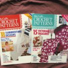 Two Issues McCall's Crochet Patterns Magazines, Instructions, Designs, Arts, Crafts