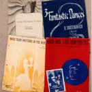 Collection of 16 Pieces of Sheet Music, Vintage, 1910s to 1940s, Ephemera