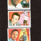 Music Composers Cuban Postage Stamps, Famous Musicians, 1999 Vintage