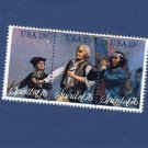 Spirit of '76 U.S. Postage Stamps, Strip of 3 13c, 1976, Collectible, Patriotic