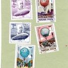 Zeppelin, Hot Air Balloons, Hungary Postage Stamps, Miniature Art, Magyar Posta