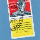 Johannes Robert Becher Postage Stamp East Germany, DDR, From 1959