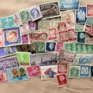 50 Foreign Vtg Postage Stamps, For Craft Projects, Art Crafting, Collecting