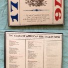 200 Years of American Heritage In Song 1778 to 1976 Vinyl LP Albums Records RARE