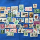 Used Vintage U.S. Postage Stamps For Crafts, Art Projects, Decoupage, Collecting