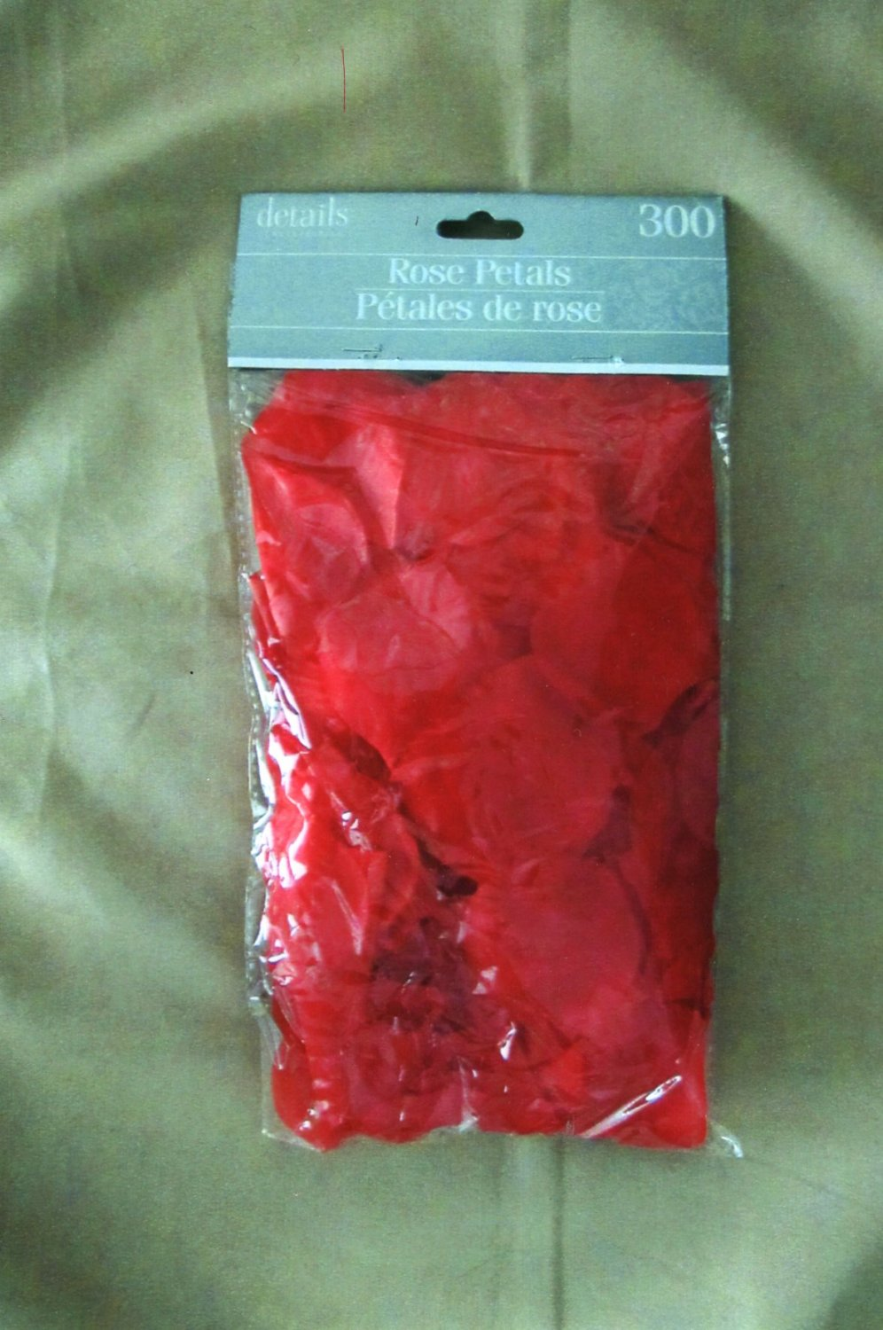 300 Red Rose Synthetic Artificial Silk Petals For Parties, Weddings, Bridal Decor