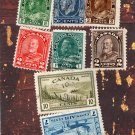 Canada Used Postage Stamps Assortment of 8, For Crafts, Arts, Collecting