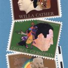 American Arts Vintage Postage Stamps, Comemmoratives, 1972, Gershwin, Cather
