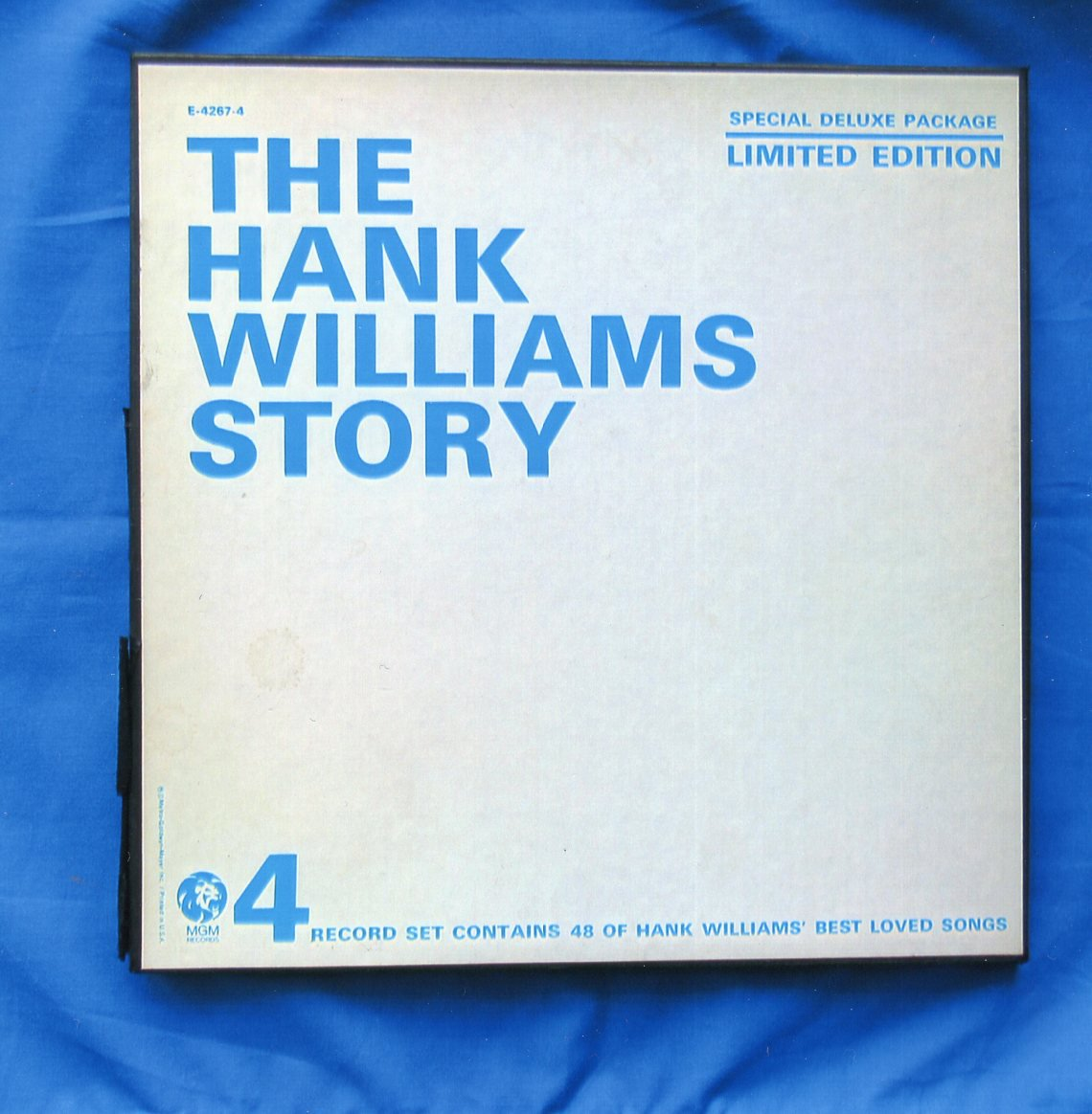 The Hank Williams Story, Limited Edition LP Record Album, Country Music, 4-Record Set