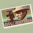 D.W. Griffith U.S. Postage Stamp Single, Moviemaker, Vintage, Commemorative
