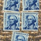 George Washington 5c Postage Stamps Coil Vintage, Dirty Face, Prominent Americans