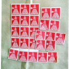 26 Air Mail U.S. Postage Stamps 50 Stars Runway, 10c, Collection